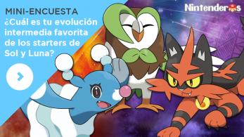 [Mini-encuesta] ¿Cuál es tu evolución intermedia favorita de los starters de 'Pokémon Sol y Luna'?