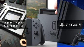 Comparativa del alcance de las presentaciones de Nintendo Switch, PS4 Pro y Project Scorpio