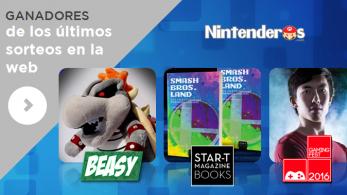 Ganadores de los sorteos del peluche de Bowsitos, los libros 'Smash Bros. Land' y las entradas para Gamingfest Sevilla 2016