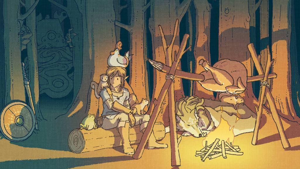 Nintendo nos felicita el Día de Acción de Gracias con un nuevo arte de 'Zelda: Breath of the Wild'