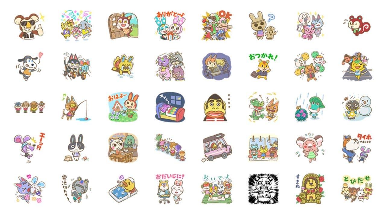 La aplicación de mensajería LINE recibe mañana nuevos stickers de 'Animal Crossing'