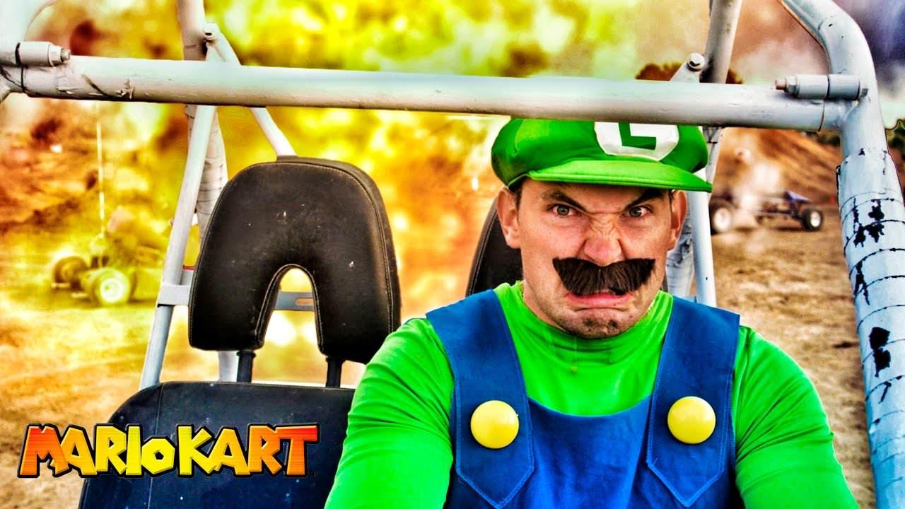 La mirada de la muerte de Luigi como tema central de la última adaptación de 'Mario Kart' en la vida real