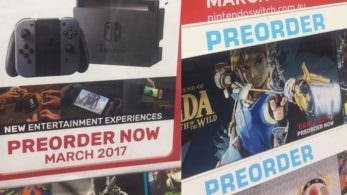 "EB GAMES también señala que 'The Legend of Zelda: Breath of the Wild' se lanzará ""a principios de 2017"""