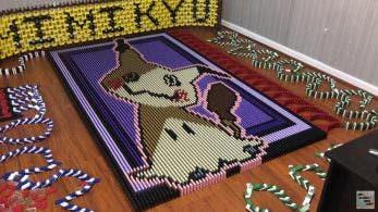 No te pierdas este tributo a Mimikyu creado con 13.460 fichas de dominó