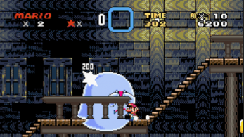 Podemos derrotar al Big Boo de 'Super Mario World' deslizándonos por las escaleras