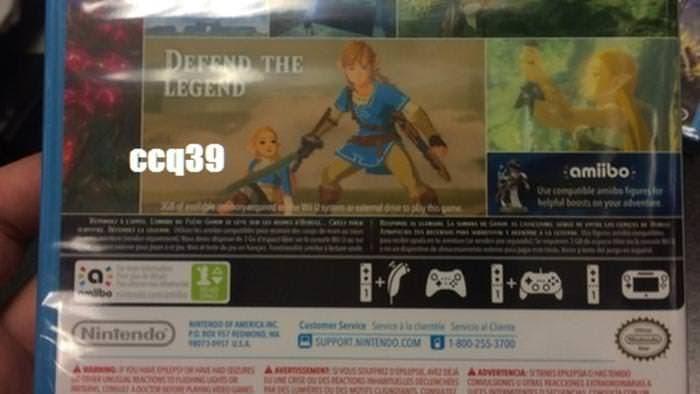 Este boxart de Zelda: Breath of the Wild para Wii U muestra opciones de control bastante extrañas