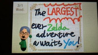 Un mensaje especial de Aonuma aparece en Pasadibujos