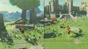 Comparación con frame rate de Zelda: Breath of the Wild: Wii U vs. Switch