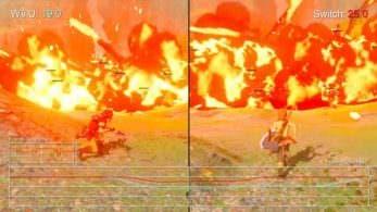 Comparación del frame rate en Zelda: Breath of the Wild: Switch vs. Wii U