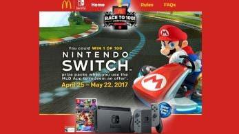 McDonalds sortea 100 packs de Nintendo Switch con Mario Kart 8 Deluxe en Estados Unidos
