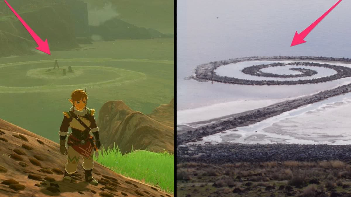 La Península Espiralia de The Legend of Zelda: Breath of the Wild existe en la realidad
