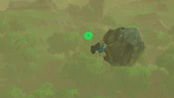 Jugadores de Zelda: Breath of the Wild están completando el reto de llevar un roca hasta el final del juego