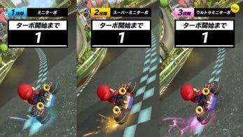 Este vídeo compara la duración de los tres mini-turbos de Mario Kart 8 Deluxe