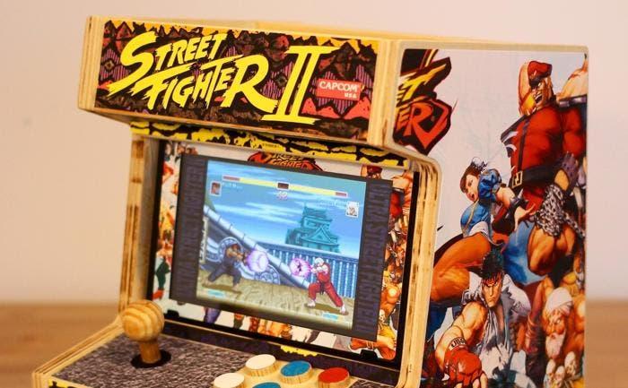 Echad un vistazo a esta Switch convertida en una magnífica recreativa tematizada de Street Fighter