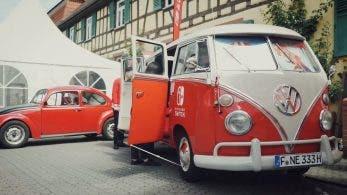Vídeo: Nintendo lleva su Volkswagen Bulli de Switch al encuentro de coches antiguos de Hattersheim