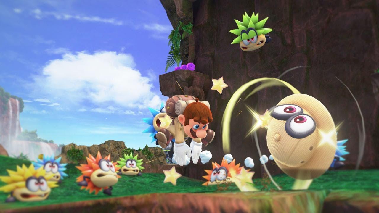 Algunas mecánicas de Super Mario Odyssey solamente pueden ejecutarse con controles de movimiento