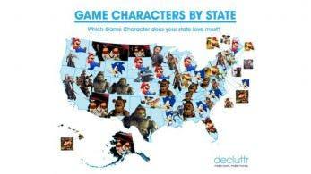 Estos son los personajes de videojuegos más buscados en cada uno de los estados de Estados Unidos