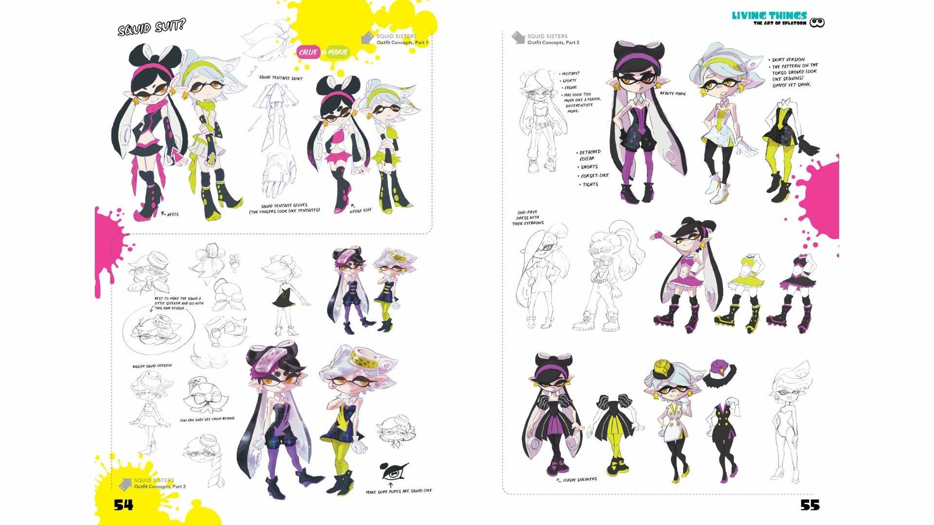 Echamos un vistazo a algunas páginas de The Art of Splatoon