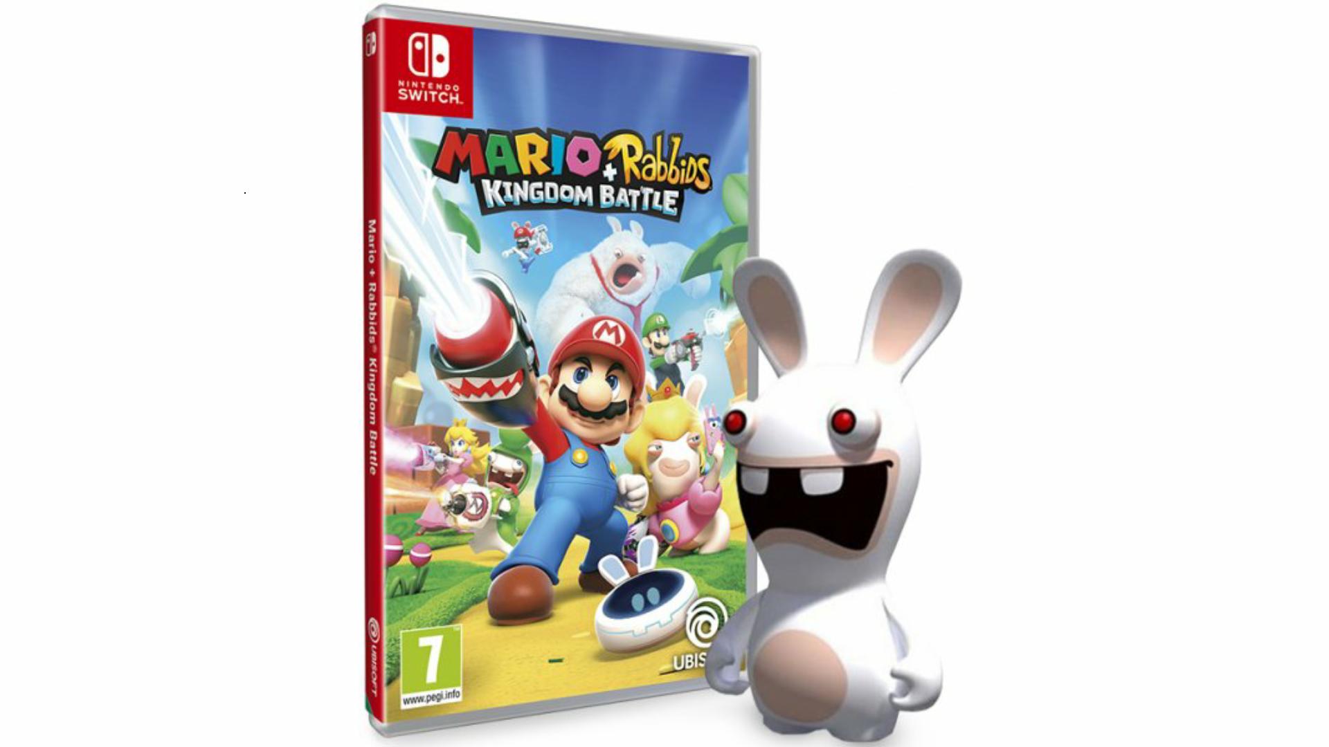 Reserva Mario + Rabbids Kingdom Battle en XtraLife y llévate esta figura de Rabbid y The Pixel Pack
