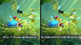Comparativa en vídeo de Rayman Legends en Switch y Wii U
