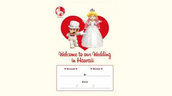 Esta revista está promocionando bodas con Mario y Peach bajo licencia oficial de Nintendo