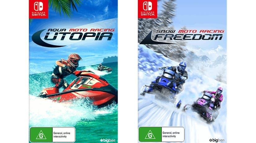 Aqua Moto Racing Utopia y Snow Moto Racing Freedom serán lanzados en formato físico para Switch