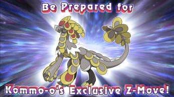 Kommo-o contará con un Movimiento-Z especial en Pokémon Ultrasol y Ultraluna