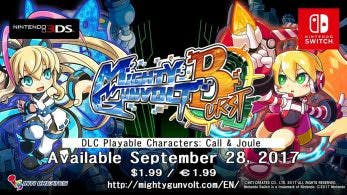 Tráiler de Call y Joule en Mighty Gunvolt Burst