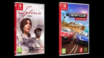 Fechas y precios de las ediciones físicas de Syberia y Gear.Club Unlimited para Switch en España
