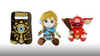 Echad un vistazo a estos dos peluches y a este cojín de The Legend of Zelda: Breath of the Wild