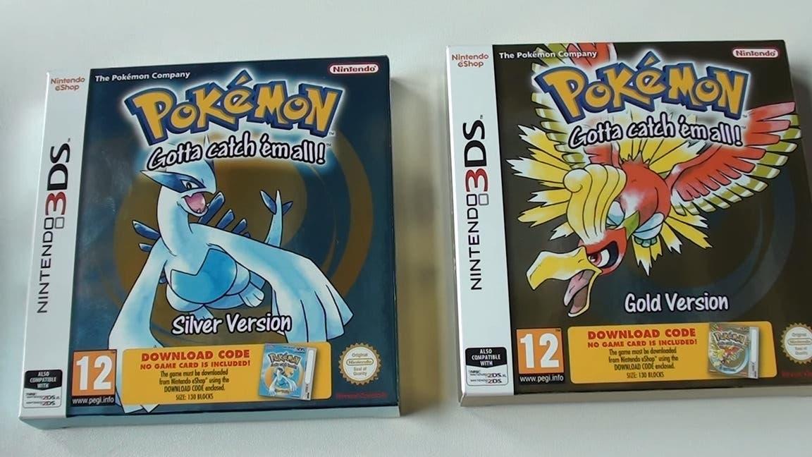 Unboxing de las ediciones físicas de Pokémon Oro y Plata para la Consola Virtual de Nintendo 3DS