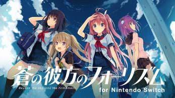La novela visual Aokana: Four Rhythm Across the Blue confirma su lanzamiento en Nintendo Switch