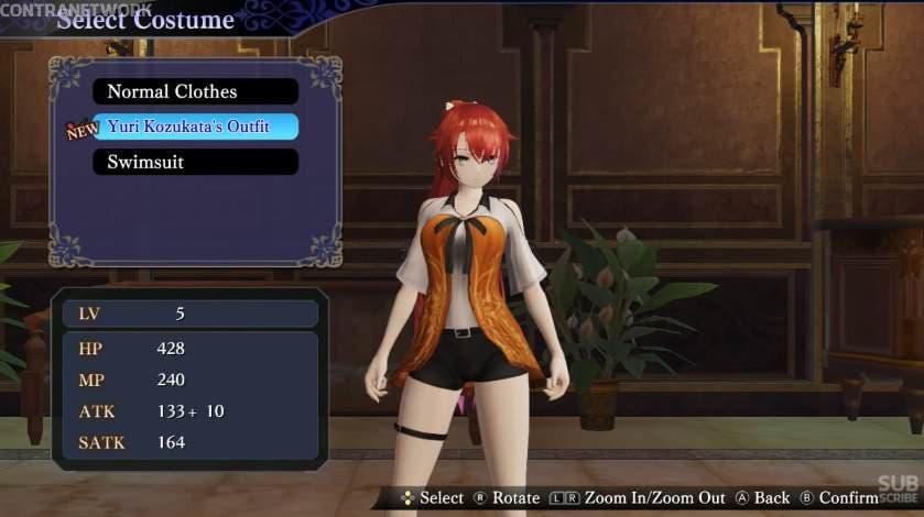 Gameplay del DLC de Fatal Frame para Nights Azure 2: Bride of the New Moon
