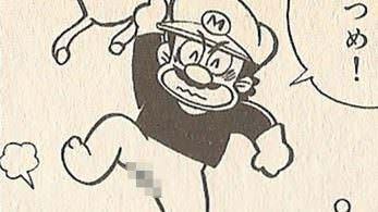 Mario enseña algo más que sus pezones en este manga oficial de 1988