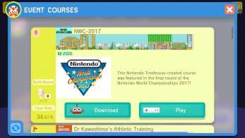 [Act.] Super Mario Maker recibe un nuevo nivel oficial de Nintendo World Championships