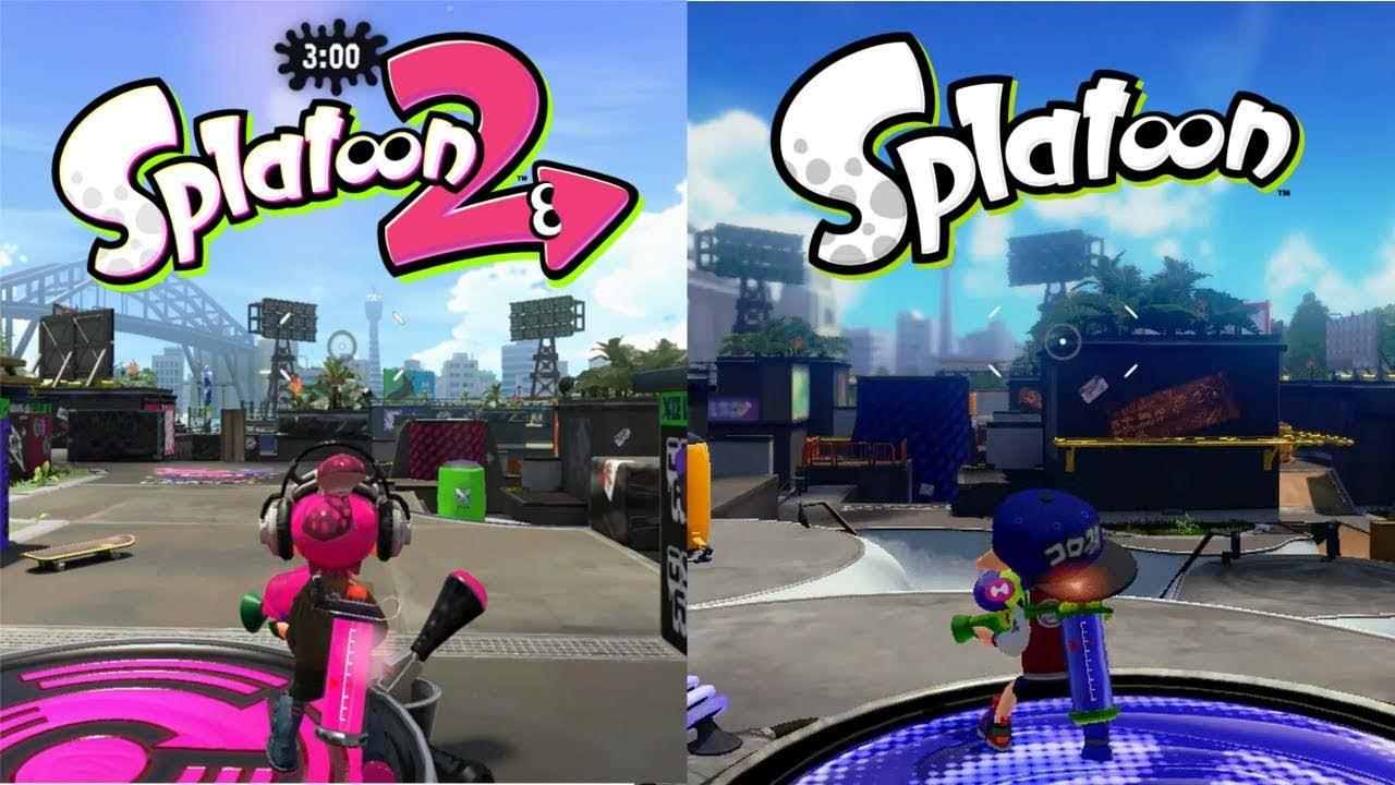 Comparativa en vídeo de Parque Lubina: Splatoon 2 vs. Splatoon