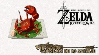 Nintendo nos enseña cómo cocinar cangrejo a la parrilla recio en Zelda: Breath of the Wild