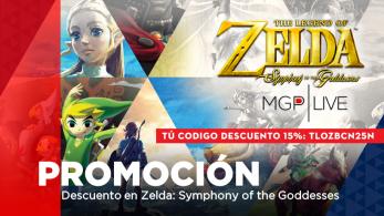 ¡Consigue un 15% de descuento en Zelda: Symphony of the Goddesses con el código TLOZBCN25N!