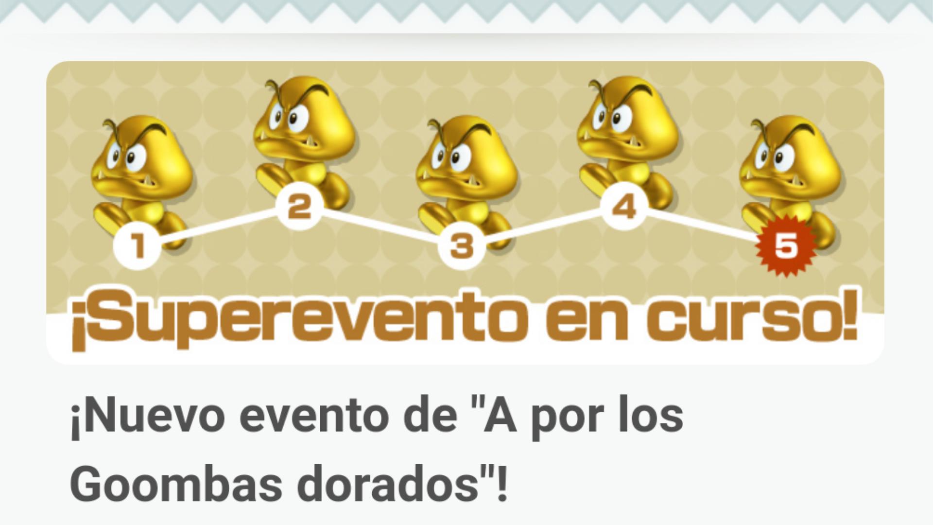 """Super Mario Run recibe un nuevo evento de """"A por los Goombas dorados"""""""