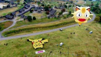 1.000 fans de Pokémon se unen en Japón para formar este Pikachu gigante