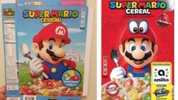 Así era el boceto original de la caja de Super Mario Cereal