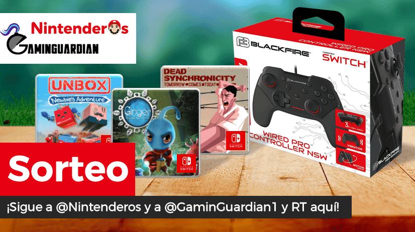 [Act.] ¡Sorteamos estos tres juegos y este mando Pro para Nintendo Switch junto a GaminGuardian!