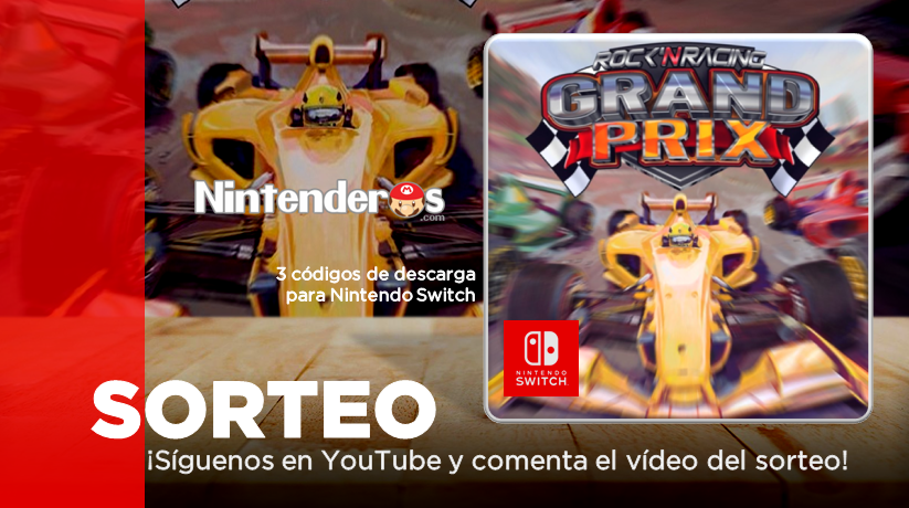 ¡Sorteamos 3 códigos de Rock 'N Racing: Grand Prix para Nintendo Switch!
