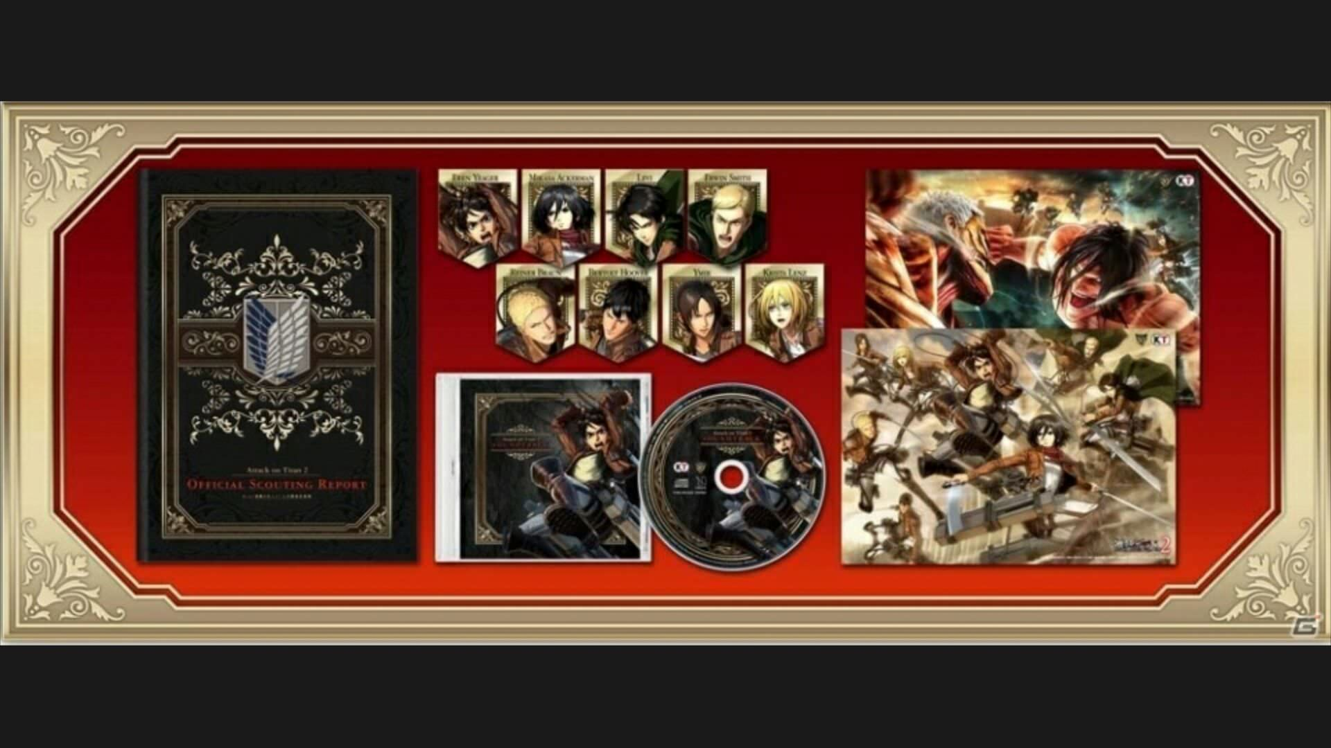 Esto es todo lo que incluyen la Treasure Box y la Limited Edition de Attack on Titan 2 para Switch