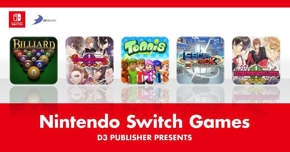 D3 Publisher confirma el lanzamiento de 5 títulos en la eShop de Nintendo Switch
