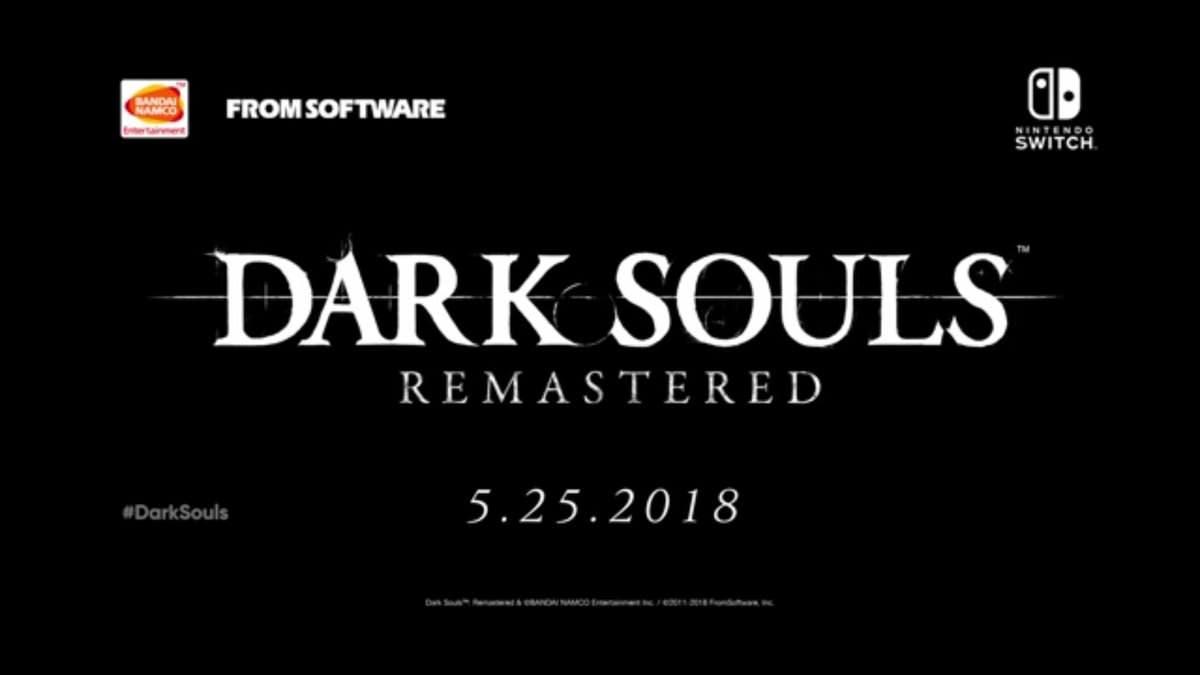 [Act.] Dark Souls: Remastered confirma su lanzamiento en Nintendo Switch