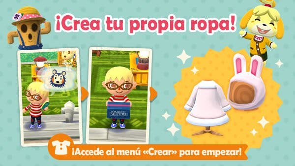 Ya puedes crear ropa en Animal Crossing: Pocket Camp