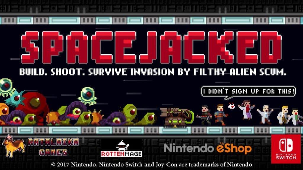 Ratalaika Games confirma el lanzamiento de Spacejacked en Nintendo Switch