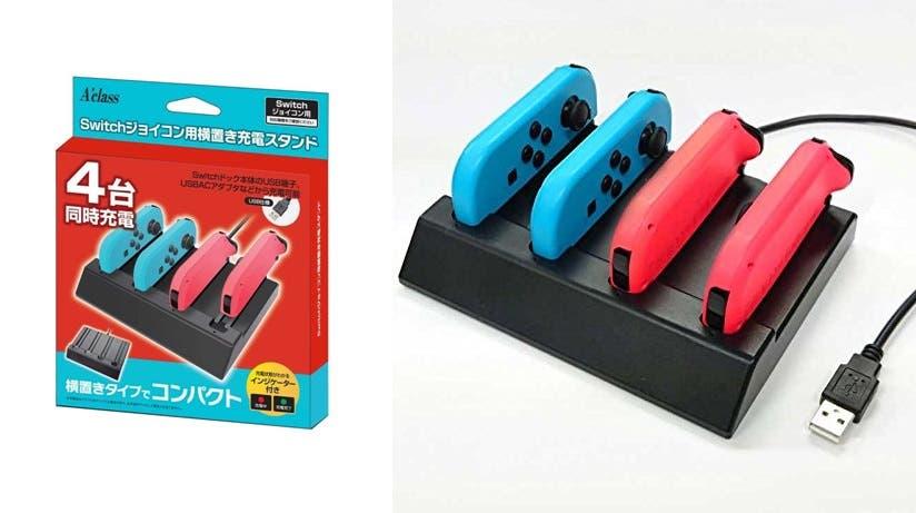 A'class lanza una nueva base de carga para los Joy-Con de Nintendo Switch