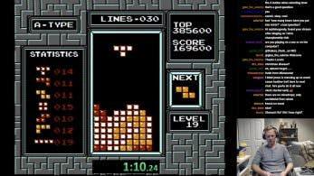 Este jugador ha batido el récord mundial de Tetris para NES sin darse cuenta